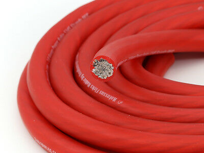 KnuKonceptz Kolossus Flex 4 Gauge Red OFC Power Wire Copper Battery Cable 20ft