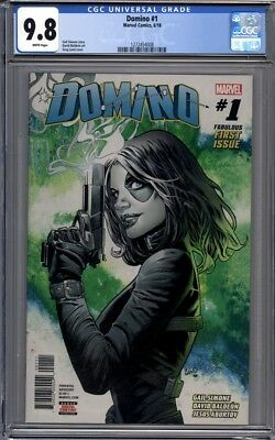Domino #1  Greg Land Cover  Deadpool Gail Simone  1st Print   CGC 9.8
