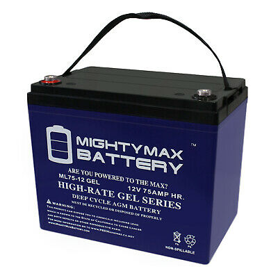 MIGHTY MAX 12V 75AH GEL Battery Replacement for Afikim