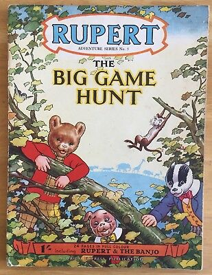 RUPERT Adventure Series Number 5 Rupert & The BIG GAME HUNT MAY 1950 VG