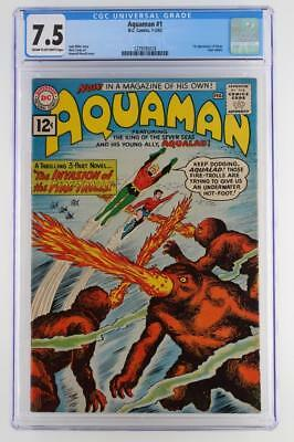 Aquaman #1 - CGC 7.5 VF- DC 1962 - 1st App of Quisp - 1st Aquaman in own title!