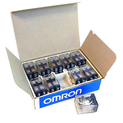Omron 8 Pin DPDT Lot Of 10 Relays LY2-0