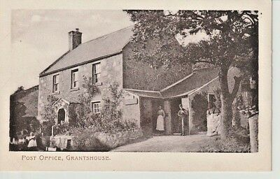 Early GRANTSHOUSE Post Office - man and lady