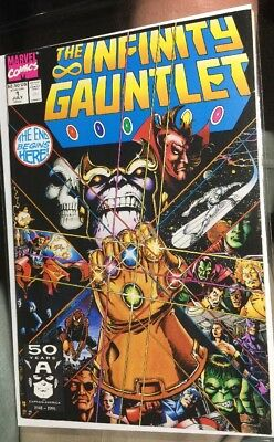 THE INFINITY GAUNTLET 1-6 1 2 3 4 5 6 Complete Set  NM+ THANOS 1991