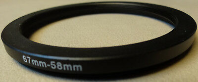 67mm to 58mm Step Down Lens Filter Ring Metal DSLR SLR Digital Camera Adapter