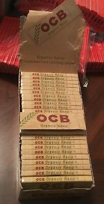 OCB Organic Hemp 1.0 Single Wide Rolling Papers 70mm Box 50 Packs/w 50 Leaves