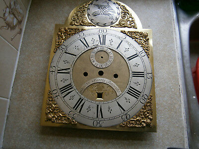 Antique Grandfather Clock Brass Face/ ON Dial STEPLION HARRIS TUNBRIDGE