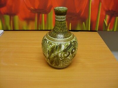 Bourne Denby - Glyn Colledge signed studio pottery 8 inch Vase perfect free post