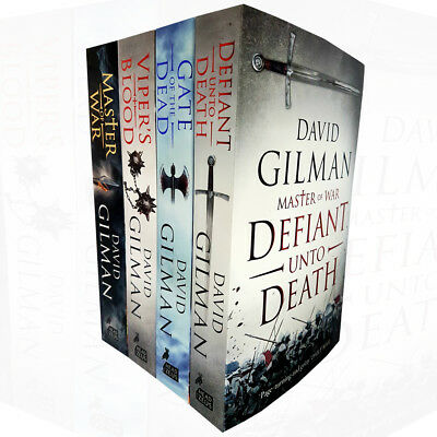 David Gilman collection 4 Books set Master of War Defiant Unto Death BRAND  NEW