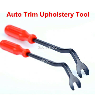 Pair Car Door Panel Remover Body Retainer Clip Auto Trim Upholstery Pry Tool Red