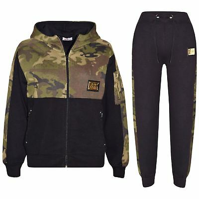 Kids Boys Girls Jogging Suit Designer A2Z Badged Camouflage Top Bottom Tracksuit