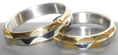 Mens Or Womens  2Tone  Wedding Band Wedding Ring  Str49 Stainless Steel Bridal