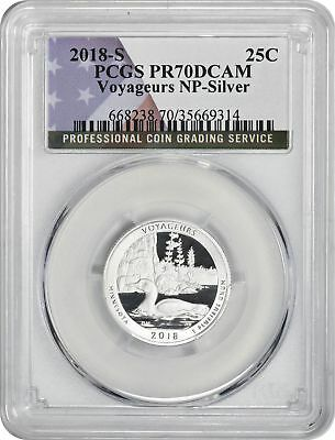 2018-S Silver Voyageurs National Park Quarter PR70DCAM PCGS Proof 70 Deep Cameo