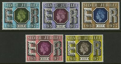 GREAT BRITAIN -1977- Silver Jubilee 1952-1977 - MNH Set of 5 Stamps - Sc.#810-14