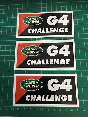 3X Land Rover Discovery G4 Challenge Decal Sticker set