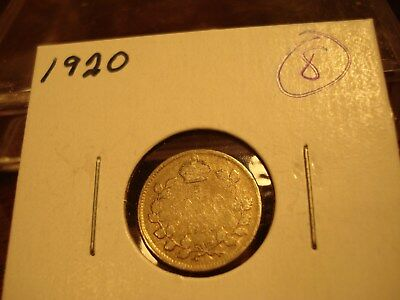 1920 - Canada - Silver Five cent - Circulated nickel - Nice Coin -