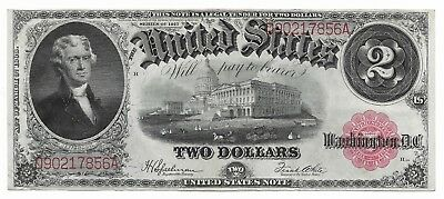 1917 $2 Two Dollar Large Size Legal Tender Note Fr #60 ***vf+ Very Fine+***