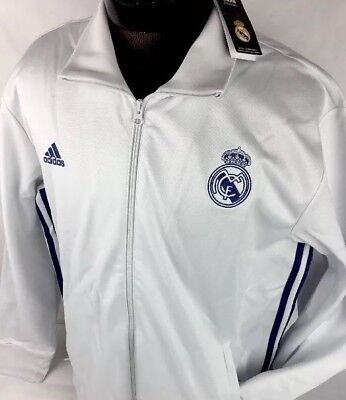 Adidas Real Madrid Full Zip-up Hood Jacket Training Top AJ1240 Soccer Football