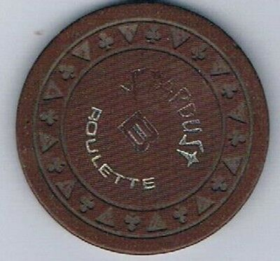 Stardust Casino Triclb Brown B Roulette Chip 1978  Las Vegas Nevada