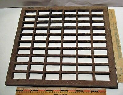 "Vintage Metal Heat Register Floor Grate 15""x 13"" Vent"