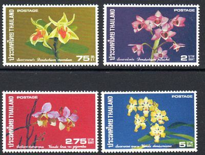 1975 THAILAND ORCHIDS 2nd series SG847-850 mint unhinged