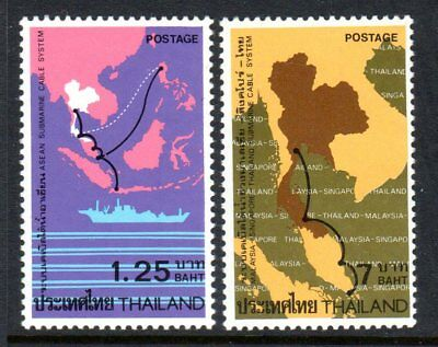1983 THAILAND SUBMARINE CABLE MALAYSIA SINGAPORE SG1147-1148 mint unhinged