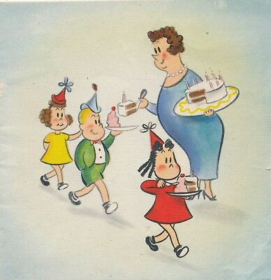 1945 Signed Little Lulu, Marjorie H. Buell Birthday Card, Hallmark