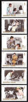 1992 THAILAND 60th BIRTHDAY QUEEN SIRIKIT SG1635-1640 mint unhinged