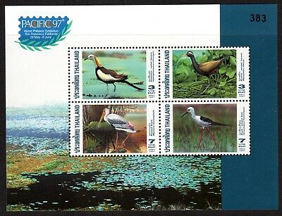 1997 THAILAND WATER BIRDS minisheet Pacific 97 Exhibition SG1939 mint unhinged