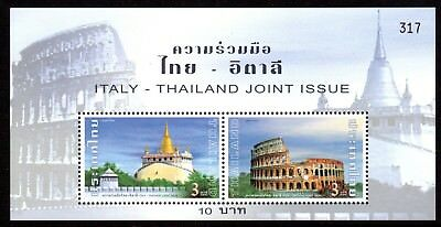 2004 THAILAND BANGKOK & ROME joint issue Italy minisheet SG2502 mint unhinged