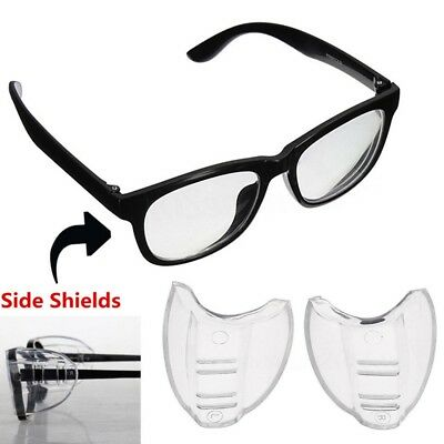 2PCS Universal Flexible Side Shields Safety Glasses Goggles Eye Protection Hot