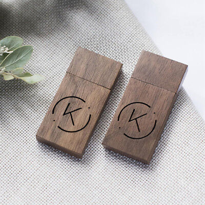 Wooden USB Pendrive Personalised Engrave Custom Wedding USB 2.0 Flash Drive 64GB