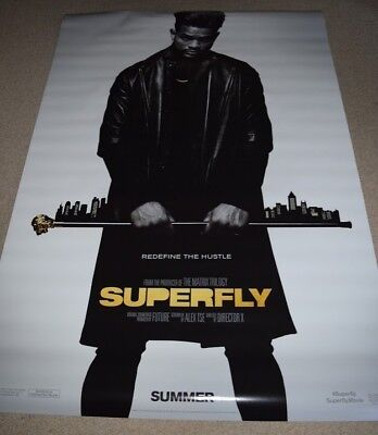 Superfly Authentic Movie Theater Bus Shelter Poster Double Sided DS 4X6 NEW