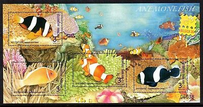 2006 THAILAND SEA ANEMONES FISH minisheet Belgica Exhibition mint unhinged