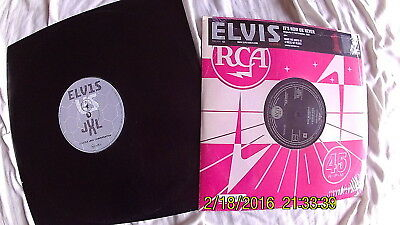 "Elvis Presley A Little Less Conversation UK 12"" promo record + now or VINYL 10"""