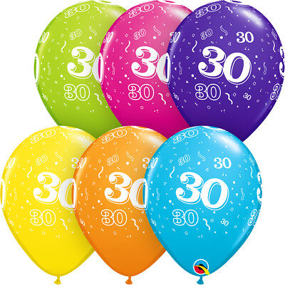 5 30th Birthday Pearl Wedding Anniversary Helium Air Balloons Party Decorations