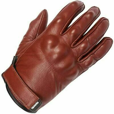 Spada Wyatt Retro Leather Motorcycle Gloves SM-2XL