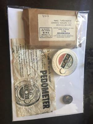 Vintage Sgt Preston Pedometer with Original Mailer and Instruction Sheet