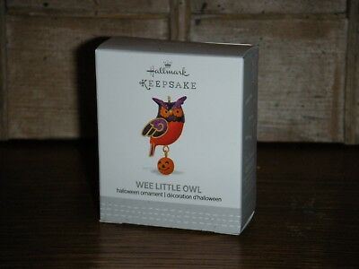 2017 Hallmark Miniature Ornament  ~ WEE LITTLE OWL ~   HALLOWEEN OWL