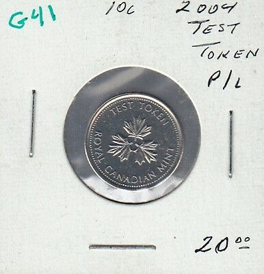 G41 Canada 10 Cents 2004 Test Token - Proof-Like In Mint Cello -