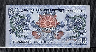 Sb2 Bhutan 1 Ngultrum Banknote 2013 Uncirculated