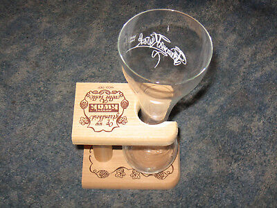 Pauwel Kwak Belgian Ale Beer Glass and Wooden Holder
