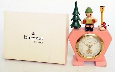 Vintage Sheffied Figural Wind-Up Clock made In West Germany, Lot 551