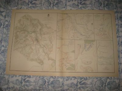 Antique 1891 Battle Of Fredericksburg Virginia Sioux Missouri Civil War Map Fine