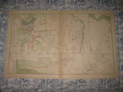 Antique 1891 Texas Arkansas Murfreesboro Tennessee Mississippi Civil War Map Nr