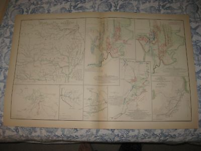 Antique 1891 Army Of Missouri Arkansas Battle Chickamauga Georgia Civil War Map
