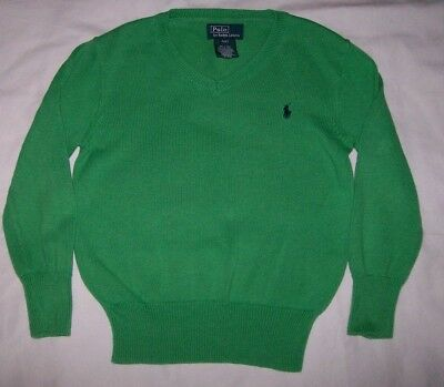 Boy's Polo By Ralph Lauren V-Neck Sweater Size 4/4T