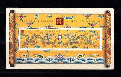 Vc891 Canada 2000 Year Of The Dragon Stamp Souvenir Sheet Mint Og Nh