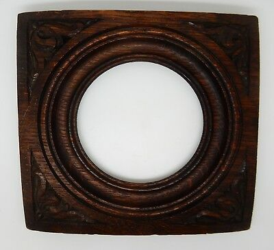 Antique English Oak Carved Rosette Architectural Salvage England