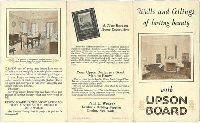 Upson Board Dryden NY Lumber Vintage Brochure Architecture Home Paul Weaver